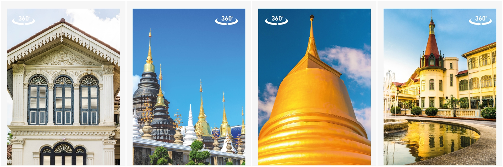 Stay tuned to our virtual tours to 4 Destinations in Thailand.