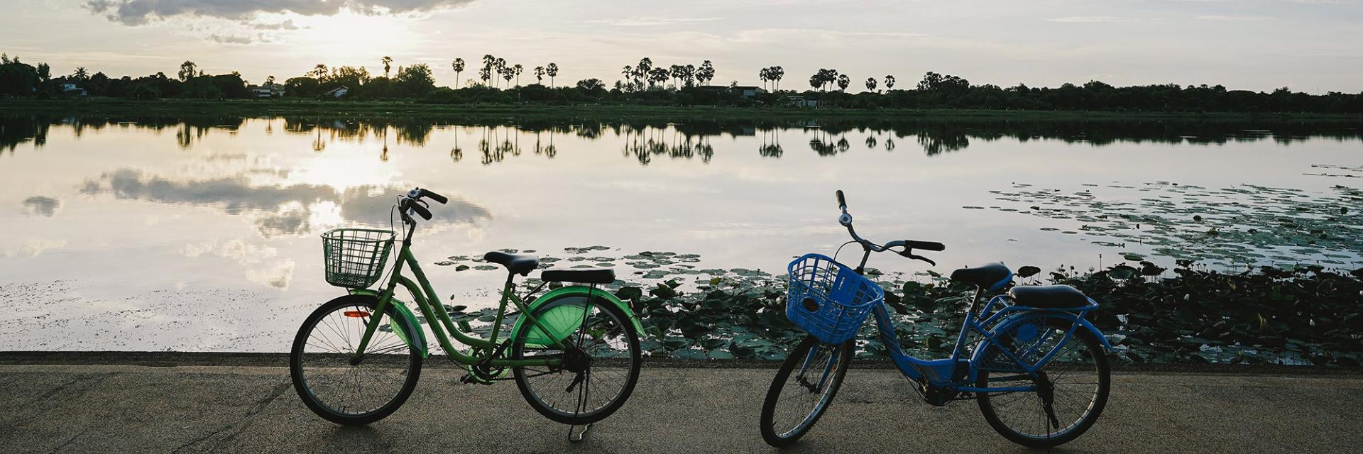 ปั่นจักรยาน ณ เกาะกลางน้ำห้วยน้ำคำ