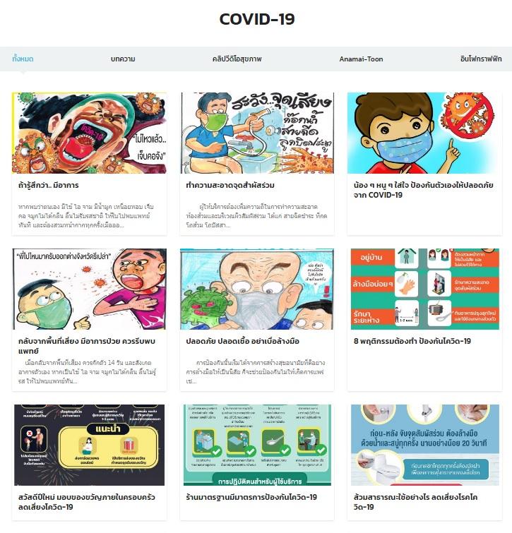 คู่มือแนวทางป้องกันการแพร่ระบาดและสื่อความรู้ COVID-19 กรมอนามัย